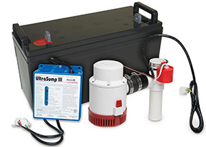 a battery backup sump pump system in Carmel
