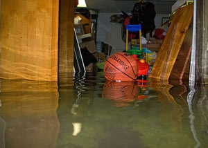 Flooded basement in Indianapolis